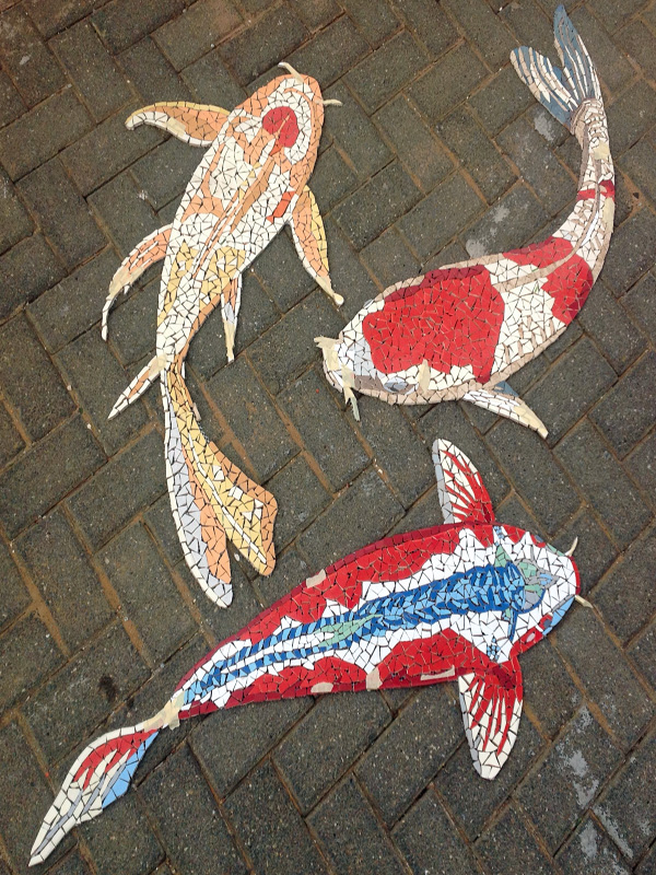 amazing Koi Mosaics Part - 11: Mosaic Koi Pool Insert